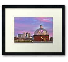Greenwich underpass entrance Framed Print