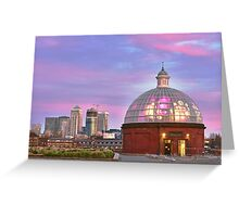 Greenwich underpass entrance Greeting Card