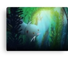 Pokemon - Dewott kelp forest Canvas Print