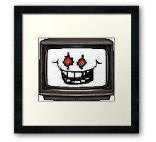 Flowey tv Framed Print