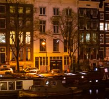 Night Lights on the Amsterdam Canals 7. Holland Sticker