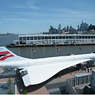 Classic British Airways Concorde, Intrepid Air and Space Museum, Hudson River, New York City by lenspiro