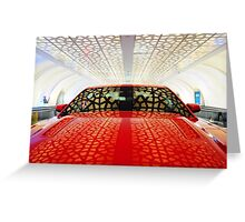 Red Savage Beauty. Ford Mustang Greeting Card