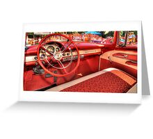 1956 Ford Interior Greeting Card