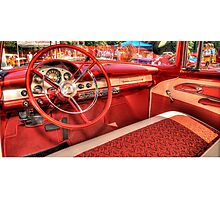 1956 Ford Interior Photographic Print