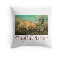 Dog Breed - the English Setter Throw Pillow