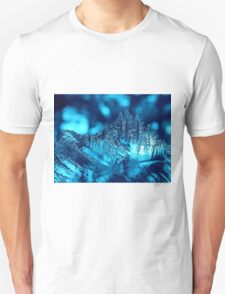 Frozen Blue Abstract T-Shirt