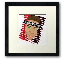 Mean Mug Framed Print
