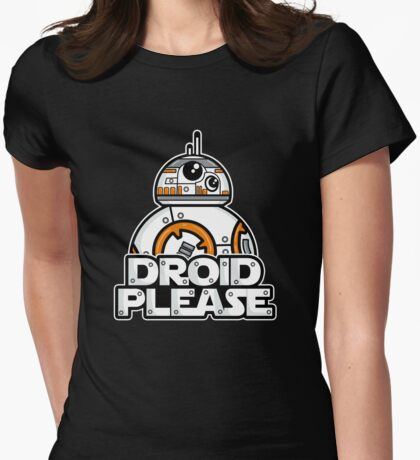 Please Womens Fitted T-Shirt
