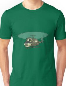 Military Helicopter Cartoon Unisex T-Shirt