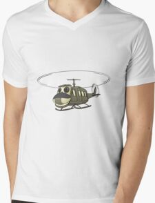 Military Helicopter Cartoon T-Shirt