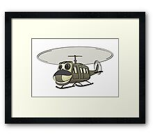 Military Helicopter Cartoon Framed Print