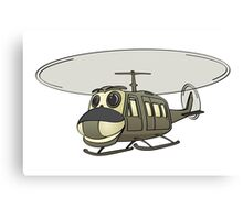 Military Helicopter Cartoon Canvas Print