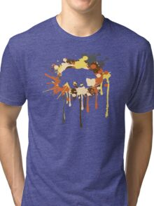 Splat Bear Tri-blend T-Shirt