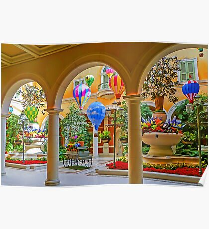 Welcome to The Bellagio - Las Vegas - Nevada USA Poster