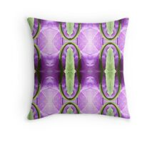 Purple pattern with stems Throw Pillow