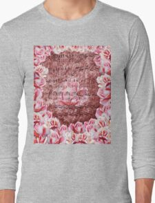 Waltz Of The Flowers Pink Roses Dance Long Sleeve T-Shirt