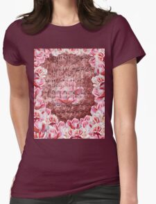 Waltz Of The Flowers Pink Roses Dance Womens Fitted T-Shirt