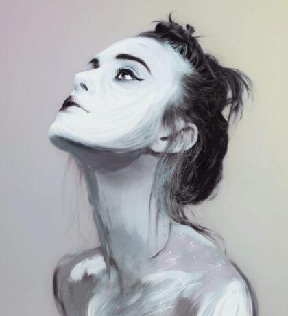 Keira Knightly digital painting. Sticker