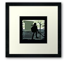 Dark Link Framed Print