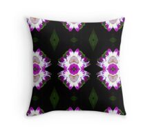 Small magenta and white flowers. Throw Pillow