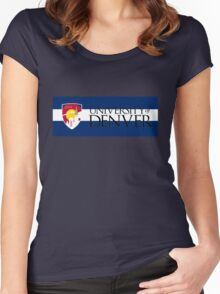 University of Denver / Colorado Flag Women's Fitted Scoop T-Shirt