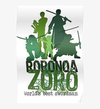 Roronoa Zoro (One Piece) - Words edition Poster