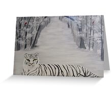 Raven (Tiger) Greeting Card