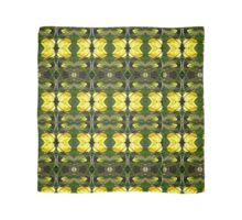 Yellow flowers with stalks pattern Scarf