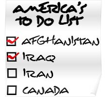 America s to-do list Poster