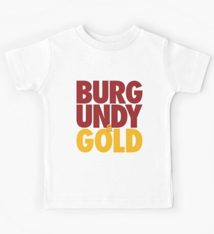 Burgundy & Gold Redskins DC Football by AiReal Apparel Kids Tee