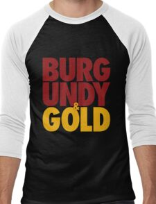Burgundy & Gold Redskins DC Football by AiReal Apparel Men's Baseball ¾ T-Shirt
