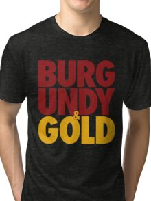 Burgundy & Gold Redskins DC Football by AiReal Apparel Tri-blend T-Shirt
