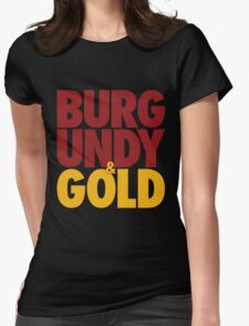 Burgundy & Gold Redskins DC Football by AiReal Apparel Womens Fitted T-Shirt