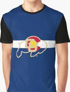 University of Colorado Boulder / Colorado Flag - Graphic T-Shirt