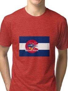Metro State / Colorado Flag Tri-blend T-Shirt