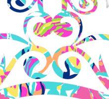 Lilly Pulitzer Inspired Tiara - Besame Mucho Sticker