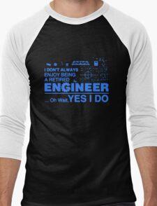 Retired Engineer T-shirt Men's Baseball ¾ T-Shirt