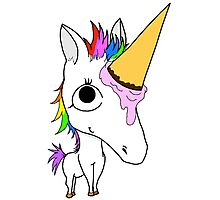 Baby Arnold - The Ice Cream Cone Unicorn Photographic Print