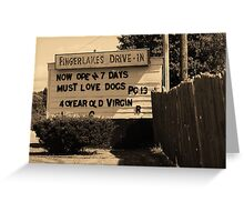 Auburn, NY - Drive-In Theater Greeting Card