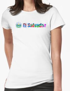 El Salvador colorido Womens Fitted T-Shirt