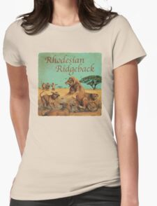 Dog Breed - the Rhodesian Ridgeback Womens Fitted T-Shirt