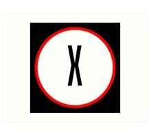 X Files X Art Print
