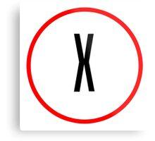 X Files X Metal Print