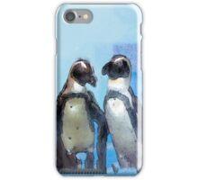 Painterly Penguin Pair iPhone Case/Skin