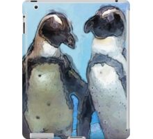 Painterly Penguin Pair iPad Case/Skin