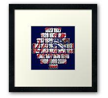 New york Yankees world series championships Framed Print