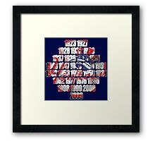 New york Yankees world series championships Framed Print