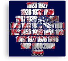 New york Yankees world series championships Canvas Print