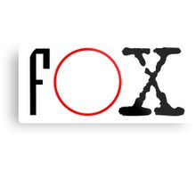 FOX - X files Metal Print
